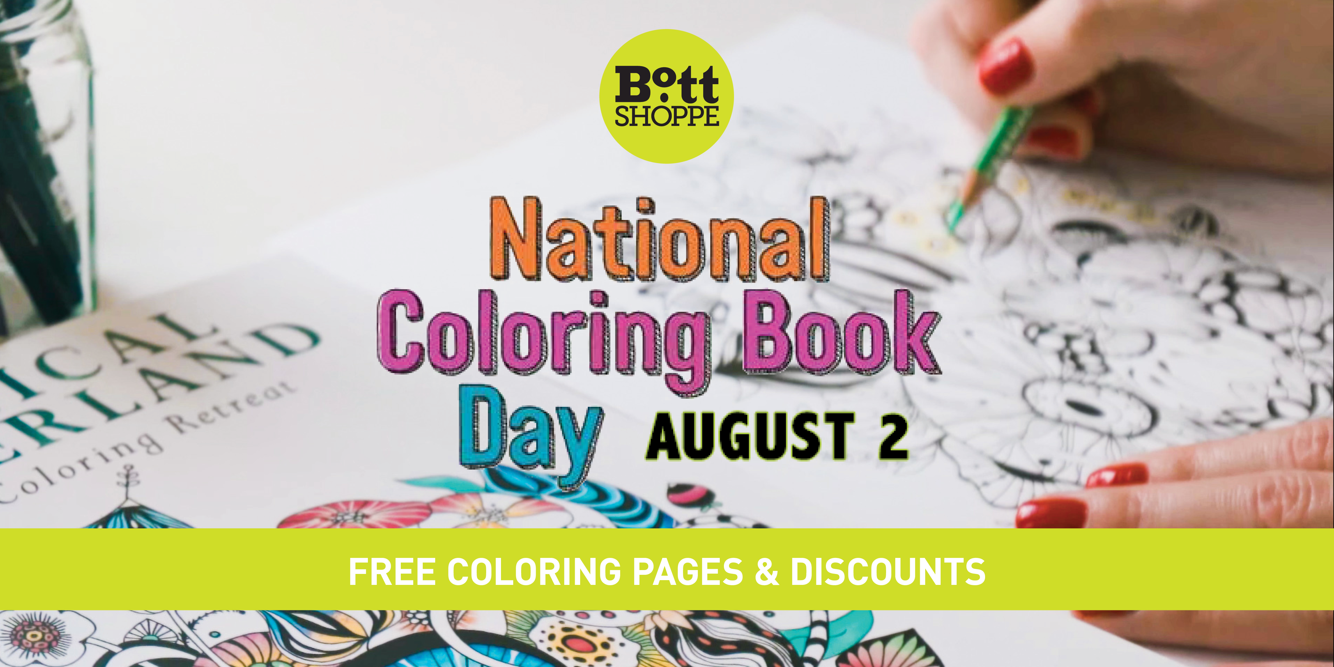 National Coloring Book Day – The Bott Shoppe